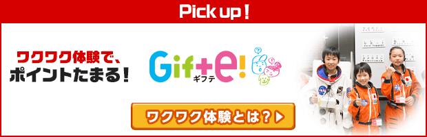 Gifte!(ギフテ)は子どもたちの未来につながる、ワクワクの学び体験を贈るサービスです。親子で楽しめる1日体験をズラリと揃えています。ワクワク体験の申し込み利用で、dポイントがたまります。