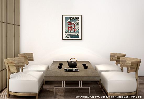 川瀬巴水「雪の宮島」のDNP高精彩複製画プリモアートを1人に