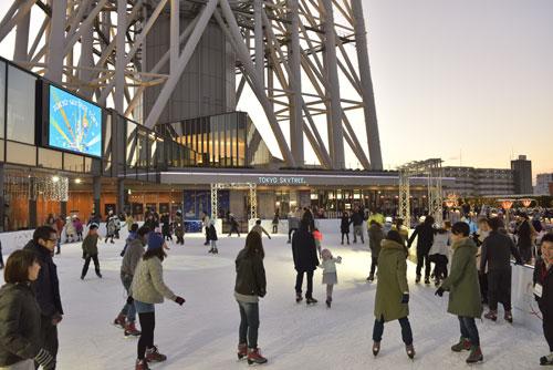 東京スカイツリーの足元でスケートを楽しめる「TOKYO SKYTREE TOWN ICE SKATING PARK 2020」に3組6人を招待
