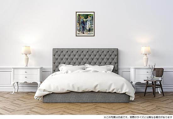 ルノワール「ぶらんこ」のDNP高精彩複製画プリモアートを1人に