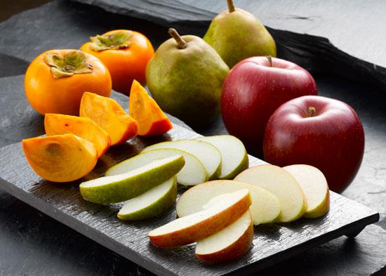 【秋の味覚】フルーツBOX(ラ・フランス、りんご、柿)を10人に